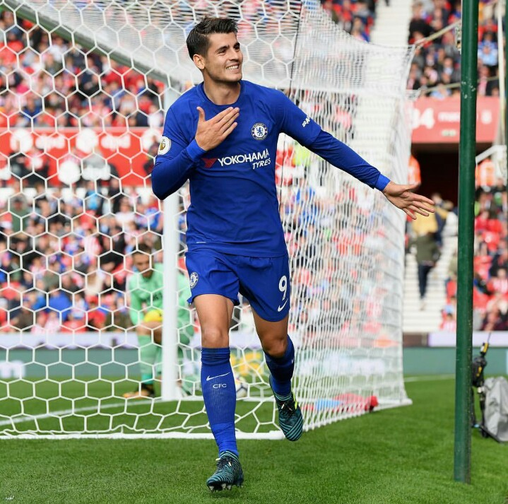 Alvaro Morata gets his first Chelsea hat-trick in a thrilling encounter away at Stoke