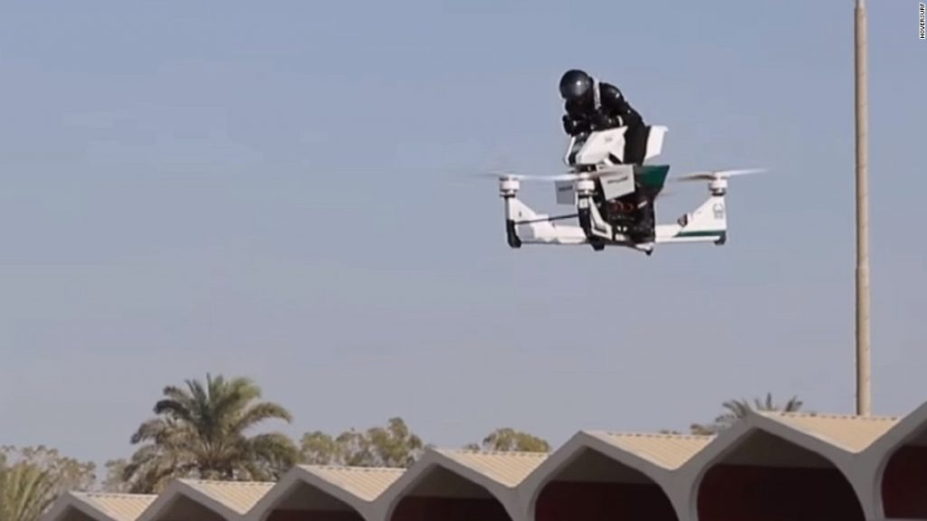 "Dubai Police adds a ""Flying Motorbike"" to its squad"